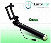 Селфи-монопод для смартфонов selfie stick iOS/Android Green (Селфи палка)