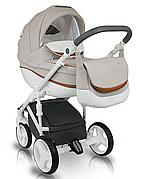 Дитяча коляска BEXA Ideal New IN 6 Беживий з білим (3072018010)