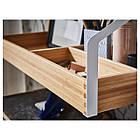 Стол IKEA SVALNÄS 150x35x176 см с креплением к стене бамбук белый 291.844.52, фото 4
