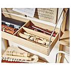 Стол IKEA SVALNÄS 150x35x176 см с креплением к стене бамбук белый 291.844.52, фото 5