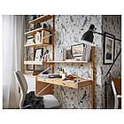 Стол IKEA SVALNÄS 150x35x176 см с креплением к стене бамбук белый 291.844.52, фото 6
