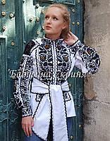 Заготовка Борщівської жіночої сорочки для вишивки нитками/бісером  БС-126-3 , фото 1