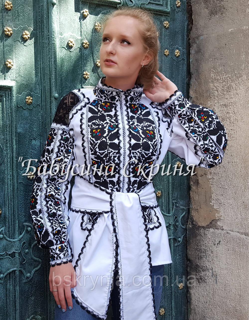 Заготовка Борщівської жіночої сорочки для вишивки нитками/бісером  БС-126-3