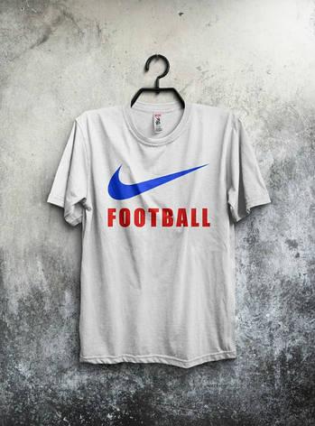 Мужская спортивная футболка Nike, Найк, белая, фото 2
