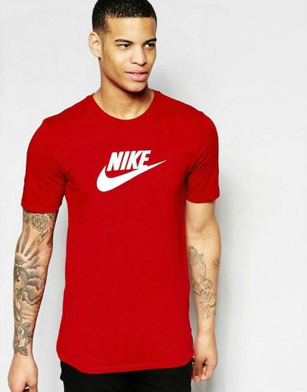 Мужская спортивная футболка Найк, Nike, красная