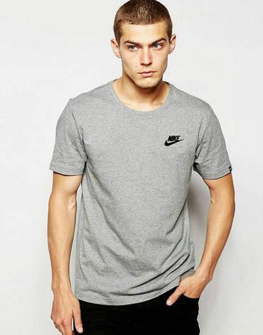 Мужская спортивная футболка Найк, Nike, серая, фото 2