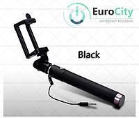 Селфи-монопод для смартфонов selfie stick iOS/Android Black (Селфи палка)