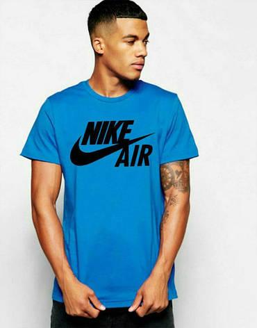 Мужская спортивная футболка Найк, Nike, синяя, фото 2