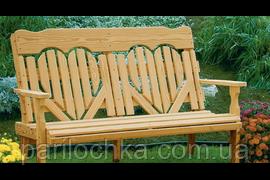 Деревянная скамья парковая