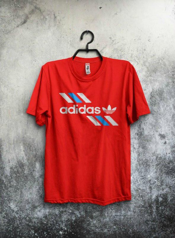 Мужская спортивная футболка Adidas, Адидас, красная
