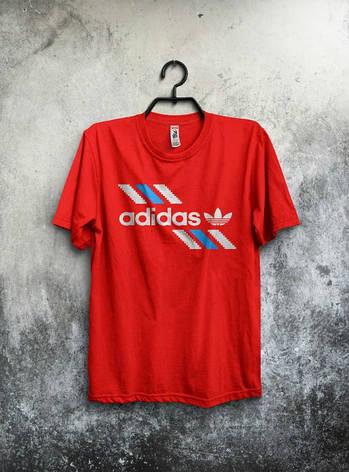 Мужская спортивная футболка Adidas, Адидас, красная, фото 2