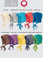 Меланжевая шапочка на завязках Disana в разных цветах, фото 1