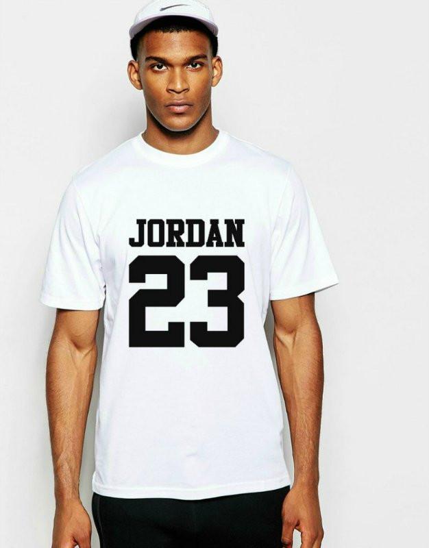 Мужская Футболка Jordan, Джордан, Белая — в Категории