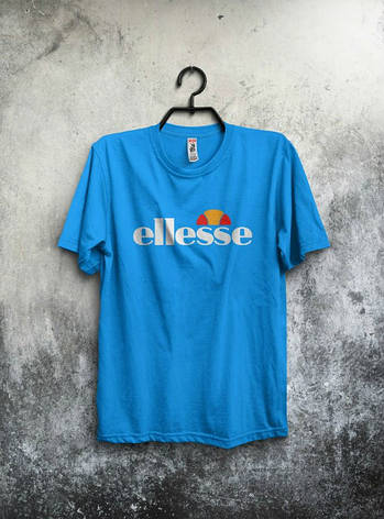 Мужская спортивная футболка Ellesse, голубая, фото 2