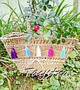 Корзинка сумочка плетеная ручной работы декорированная в этно стиле, фото 2
