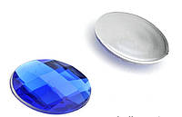 Камень клеевой синий 13*18 овальный