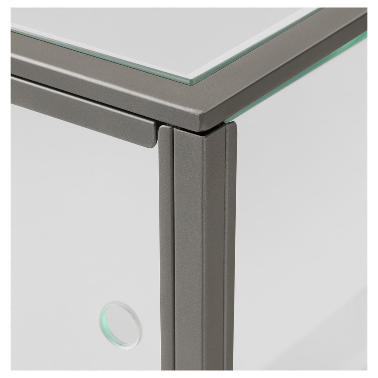 столик Ikea Sammanhang 70x70 см серый стеклянный 20412444 продажа