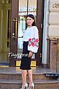 Вышиванка этно стиль, Bohemian, белая вышитая блуза, фото 6