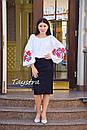 Вышиванка этно стиль, Bohemian, белая вышитая блуза, фото 7