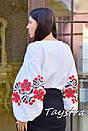 Вышиванка этно стиль, Bohemian, белая вышитая блуза, фото 4