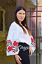 Вышиванка этно стиль, Bohemian, белая вышитая блуза, фото 3