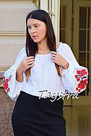 Вышиванка этно стиль, Bohemian, белая вышитая блуза