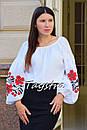 Вышиванка этно стиль, Bohemian, белая вышитая блуза, фото 2