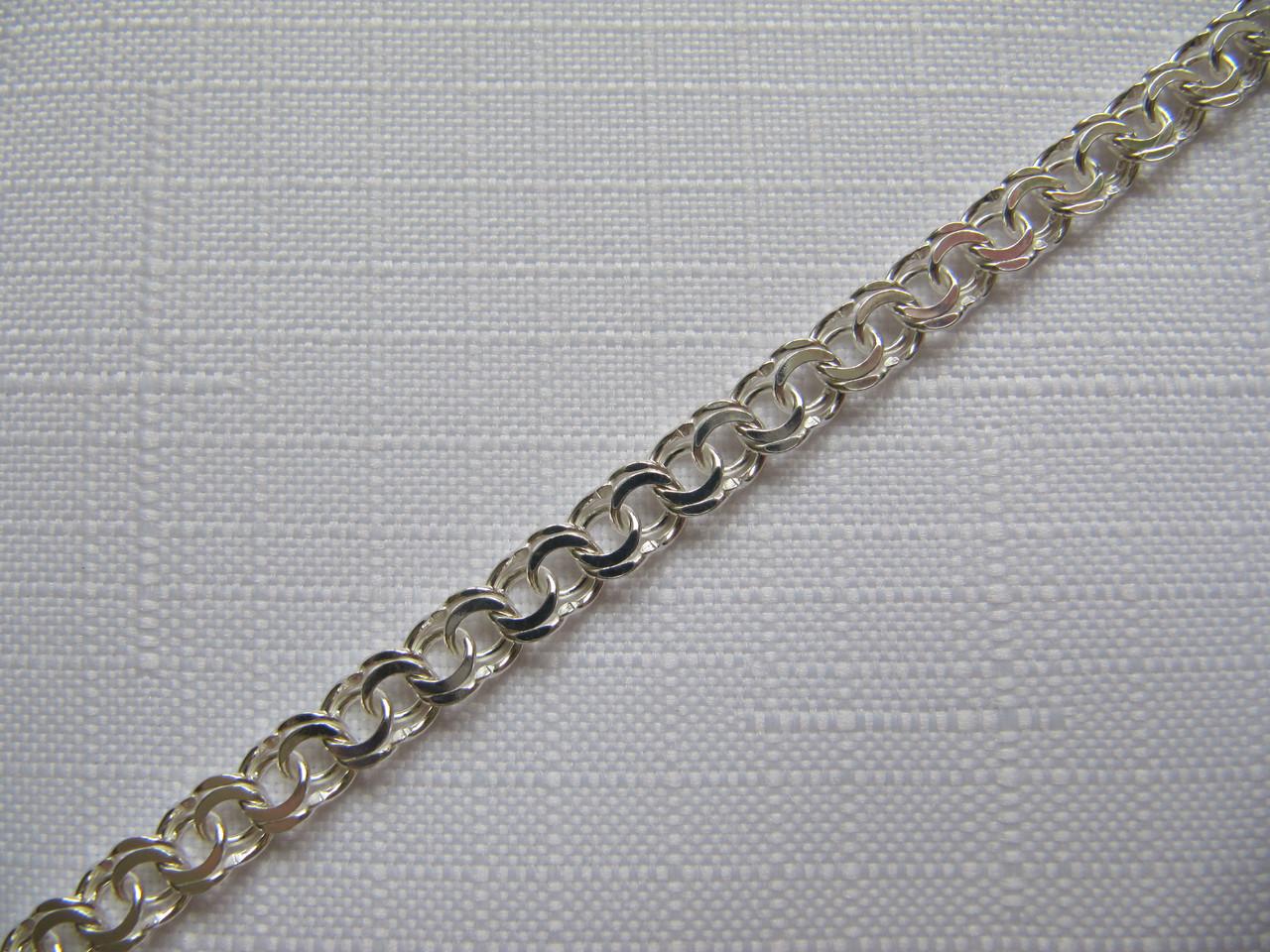 Серебряный браслет ГАРИБАЛЬДИ (БИСМАРК) 5.5 мм 17 см