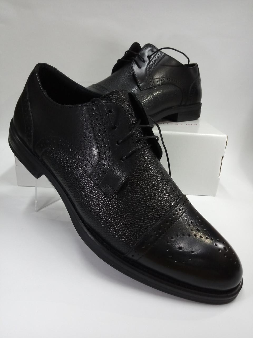 Мужские туфли Lioneli Lv 3061-01 из натуральной кожи.