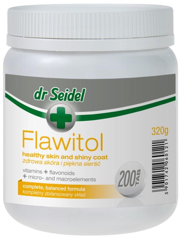 ФЛАВИТОЛ Доктора Зейделя FLAWITOL Dr. Seidel витамины для здоровой кожи и красивой шерсти собак, 200 таблеток