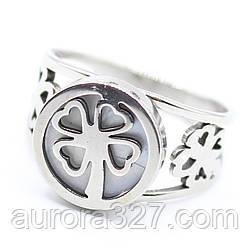 """Кольцо из нержавеющей медицинской стали """"Diana"""" в серебряном цвете"""