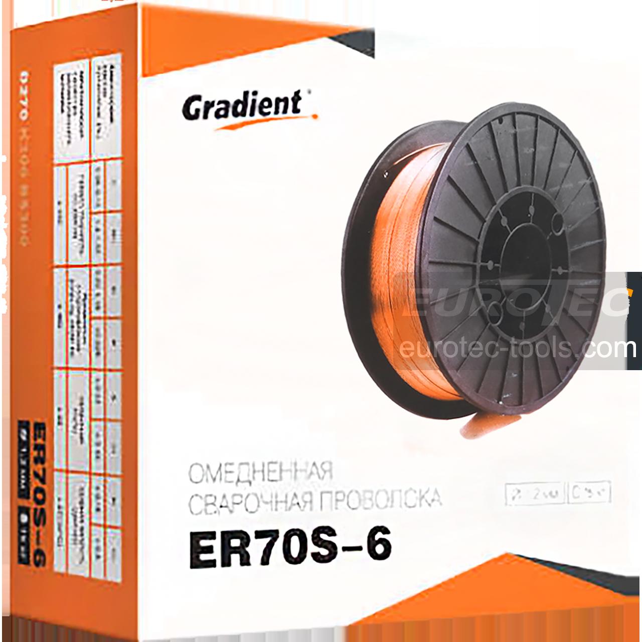Проволока Св08Г2С / ER70S6, 0.8 мм, 2.5 кг, сварочная проволока омедненная Gradient, проволока для сварки