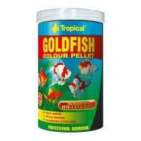 Tropical GOLDFISH COLOR PELLET красящий гранулированный корм для золотых рыбок и молодых карпов кои, 1л