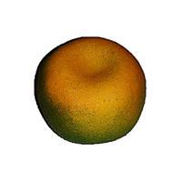 Искусственные фрукты Мандарин зеленый(6х8см)