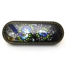 Футляр для очков солнцезащитных Синие цветы