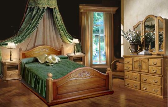 Кровать из дуба Пегас