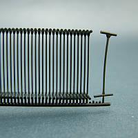 Пластиковый соединитель для крепления бирки, ярлыка под игольчатый пистолет (черный 15,18,25, 35 мм)