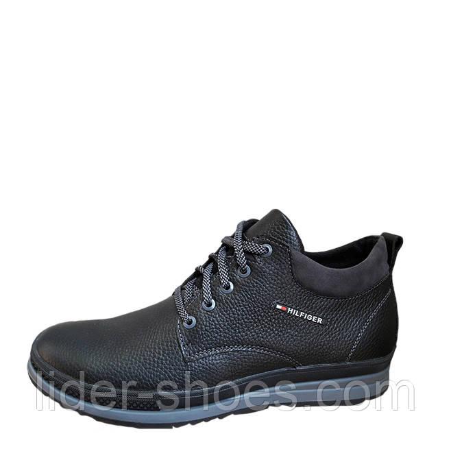 Мужские демисезонные ботинки в стиле Hilfiger