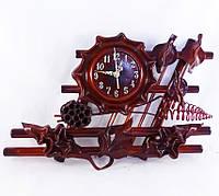 Часы из натуральной кожи и бамбука-Фентези