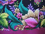 Диво дивное 1798-6, павлопосадский платок (шаль) из уплотненной шерсти с шелковой вязанной бахромой, фото 7