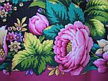 Диво дивное 1798-6, павлопосадский платок (шаль) из уплотненной шерсти с шелковой вязанной бахромой, фото 9