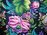 Диво дивное 1798-6, павлопосадский платок (шаль) из уплотненной шерсти с шелковой вязанной бахромой, фото 10