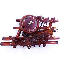 Часы из натуральной кожи и бамбука-Иллюзия
