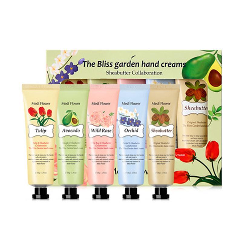 Подарочный набор увлажняющих кремов для рук Medi Flower The Bliss Garden of Five Hand Cream