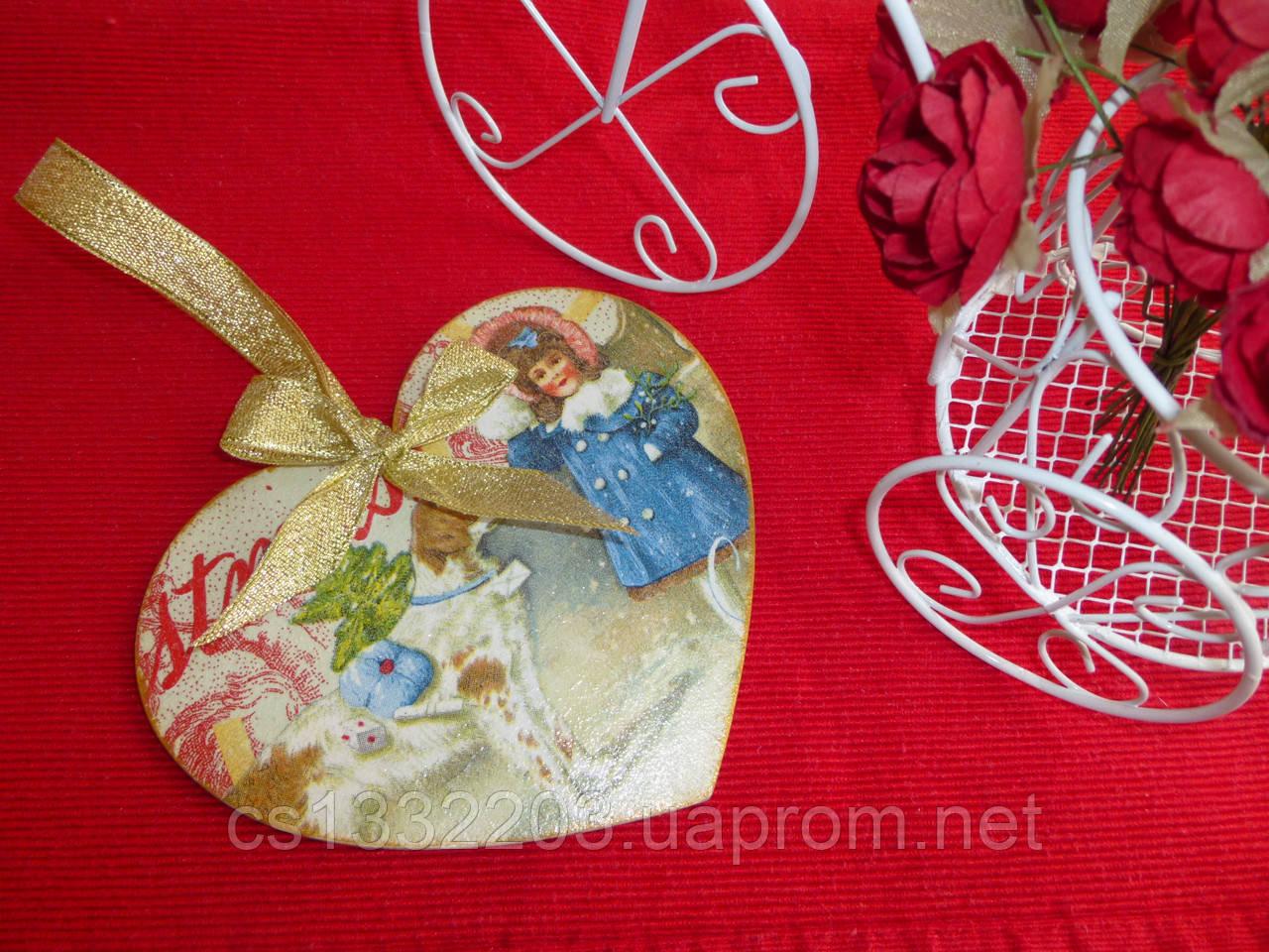 """Новогодняя подвеска """"сердце"""""""