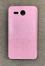 Шкіряний чохол-книжка MOFI для Lenovo A529 (Рожевий), фото 2