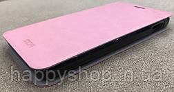 Шкіряний чохол-книжка MOFI для Lenovo A529 (Рожевий), фото 3