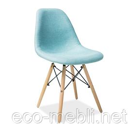Дерев'яне крісло на кухню Coco mięta Signal