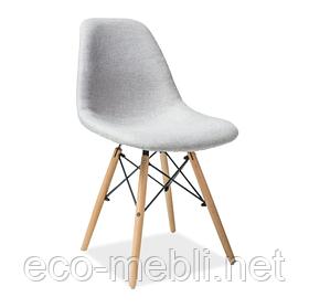 Дерев'яне крісло на кухню Coco jasny szary Signal