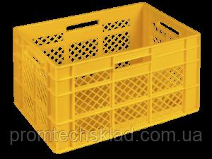 Ящик пластиковый 600*400*350 цветной/втор.